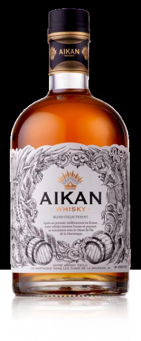bouteille de whisky étiquette aikan Belgique